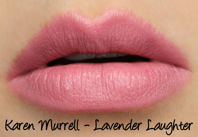 Karen Murrell - Lavender Laughter Lipstick Swatches & Review
