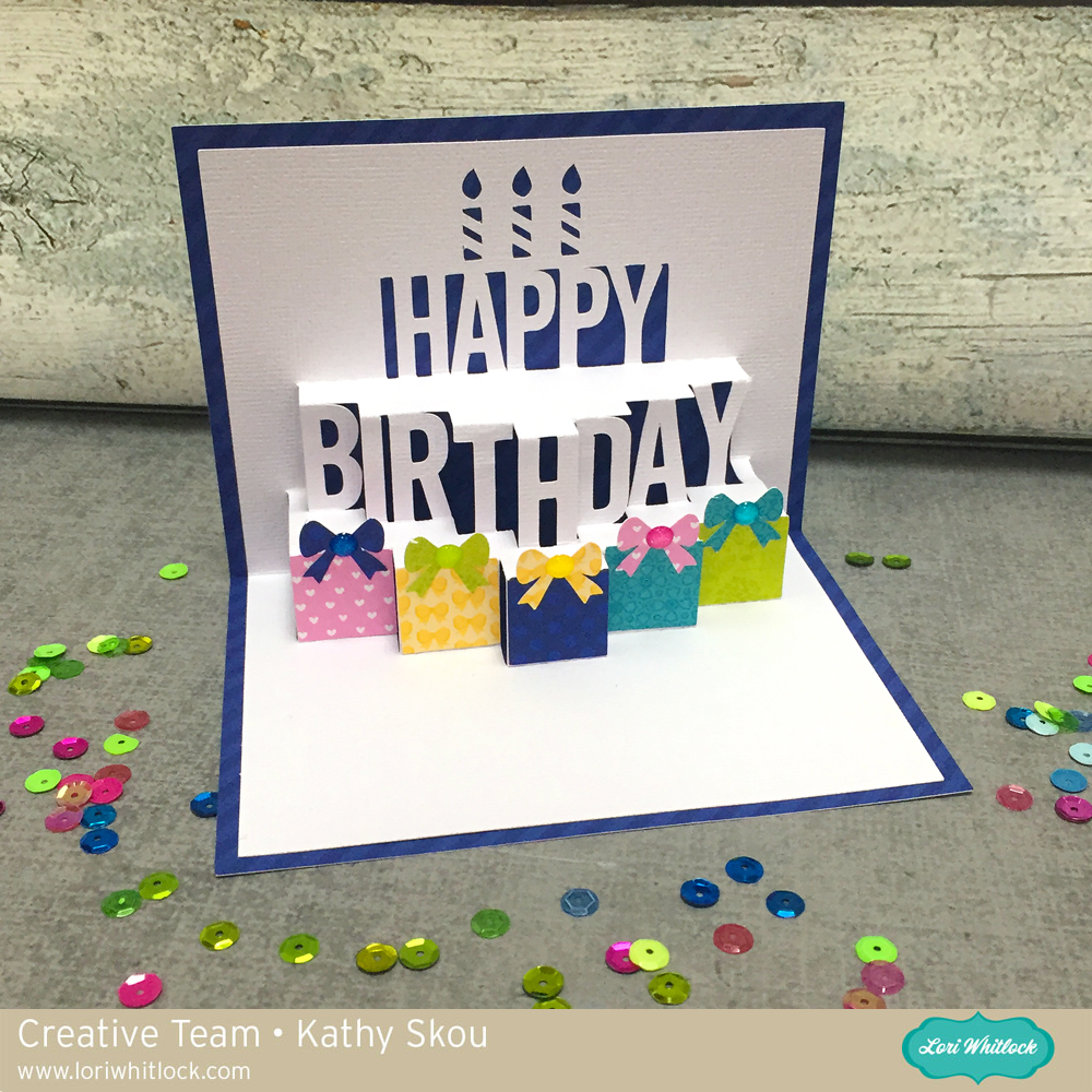 Enjoyable My Happy Place Lori Whitlock A2 Pop Up Birthday Cake Card Birthday Cards Printable Benkemecafe Filternl