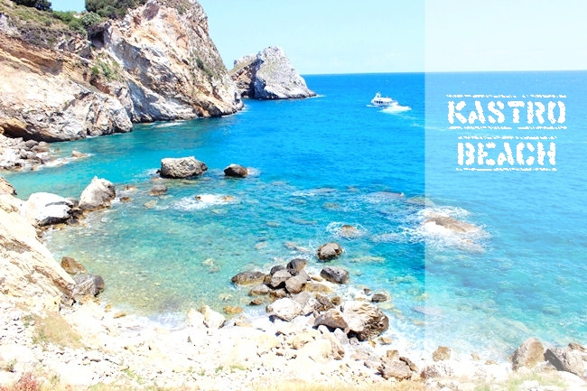 Trip around Skiathos: Kastro beach