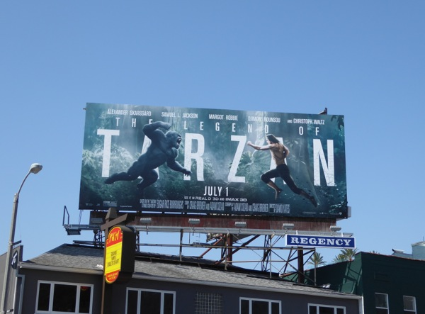 Legend of Tarzan film billboard
