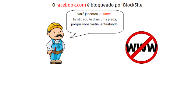 Chrome com site bloqueado