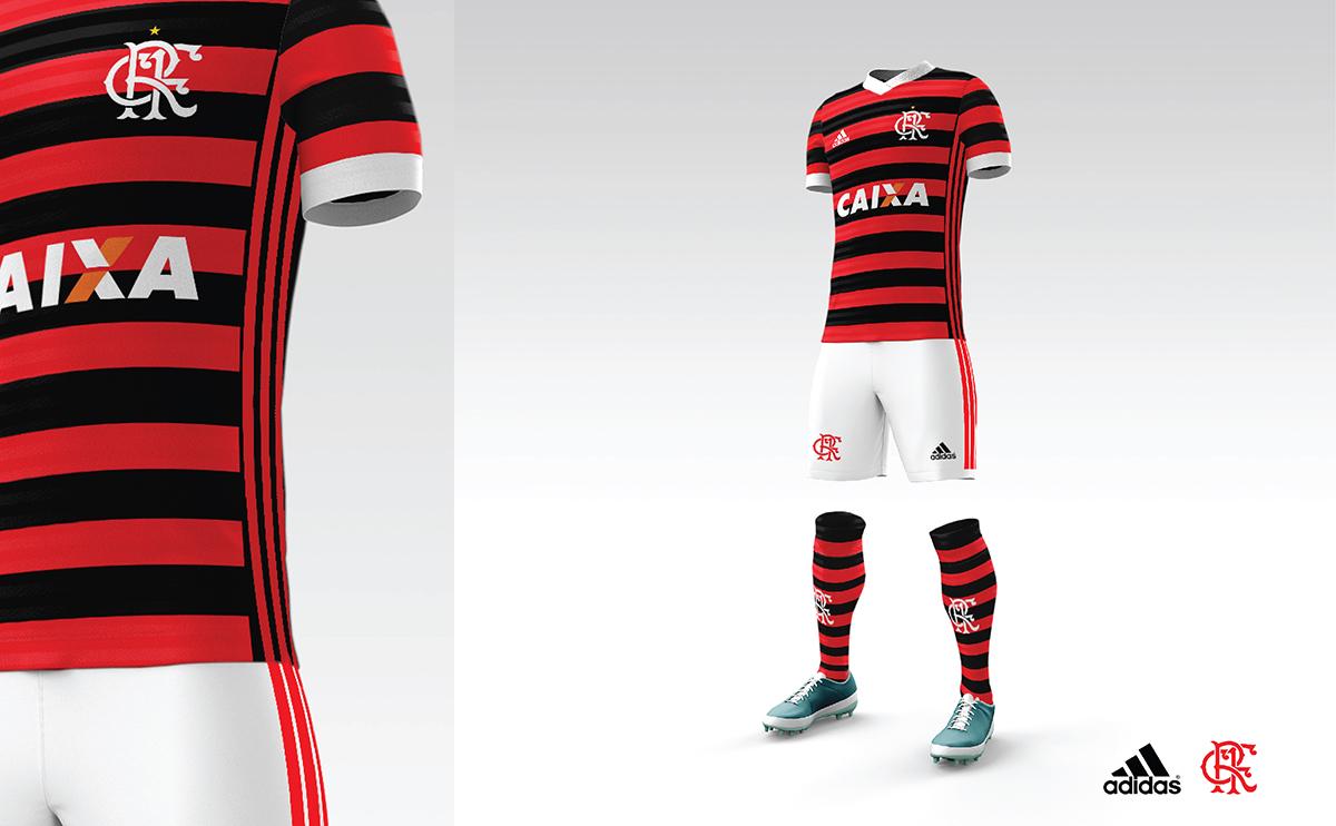 952fd4b8e91df Projeto de Uniforme vermelho e preto para o Flamengo - Arte  Jorge Trabuco