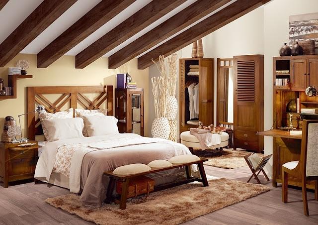 Muebles de dormitorio como decorar un dormitorio de - Dormitorio colonial blanco ...