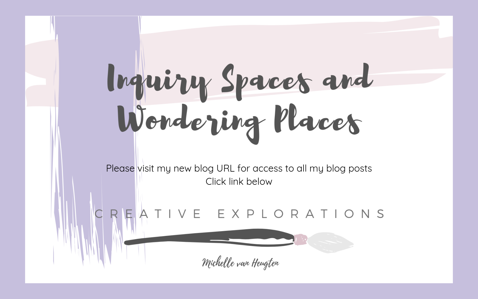 Inquiry Spaces and Wondering Places
