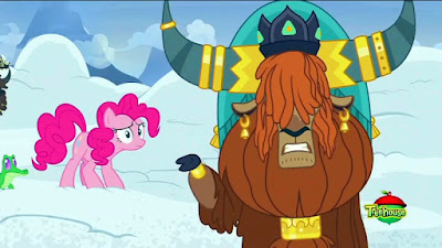 Gummy, Pinkie and Prince Rutherford in the snow