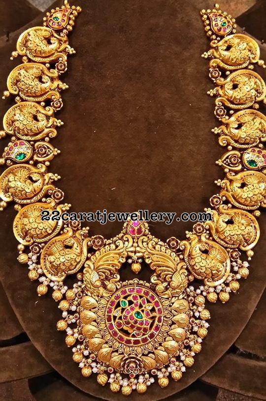 Antique Peacock Medium Size Necklace