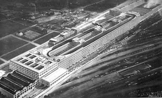 Fiat's extraordinary motor production plant at Lingotto, a  few kilometres from the centre of Turin