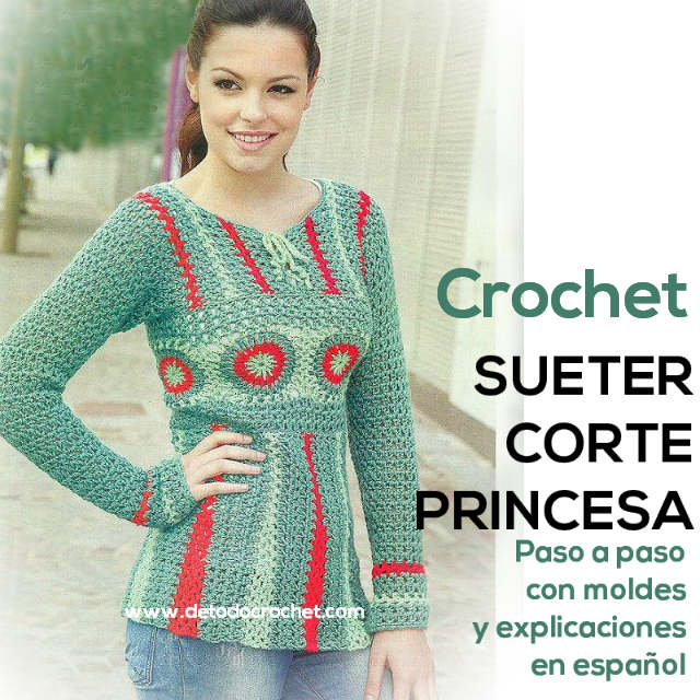tutorial sueter crochet