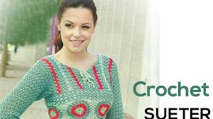Sueter Crochet corte princesa para todos los talles / Paso a paso