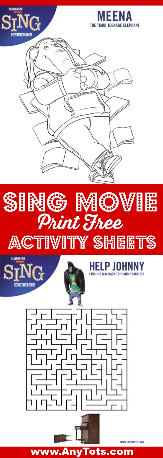 sing free printable activity sheets