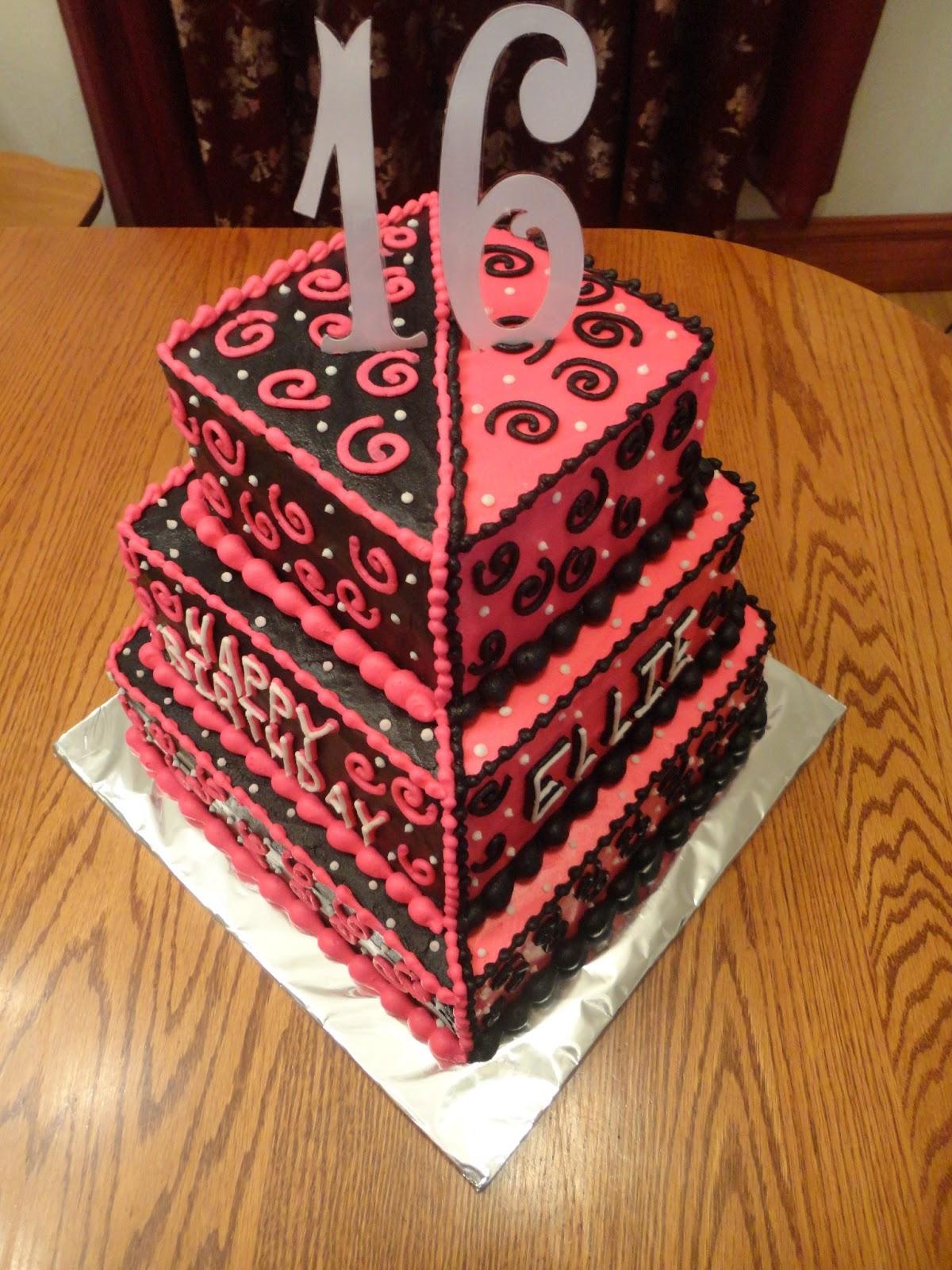 16 Year Old Birthday Cake Girl