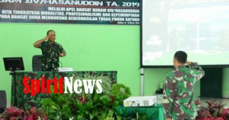 Pangdam Hasanuddin, Ingatkan Prajurit Kodam XIV/Hsn, Tetap Jaga Netralitas