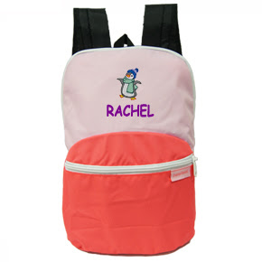 Personalized Kids bag with name embroidered on it