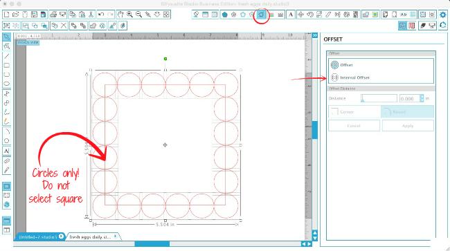 Silhouette Studio, Silhouette tutorial, Silhouette Cameo, scalloped edge, offset tool