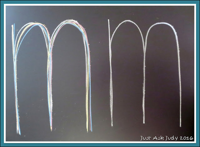 Make use of your chalkboard to introduce letters and sounds the multi-sensory way!