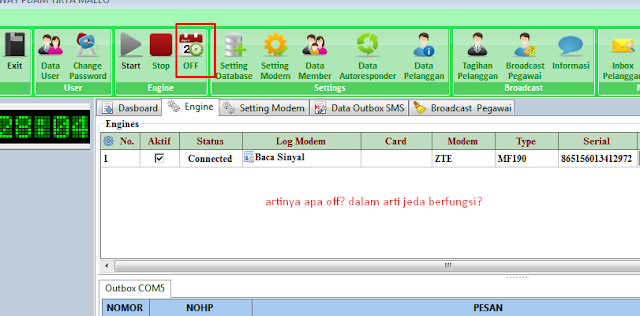 sms gateway pdam