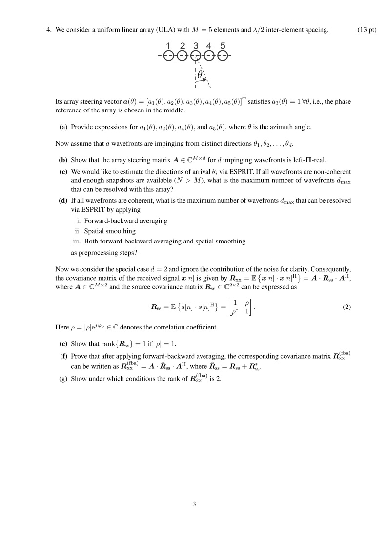 engineering: Adaptive and Array Signal Processing final exam question-2