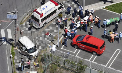 Nursery children critically injured in Japan as car ploughs into group