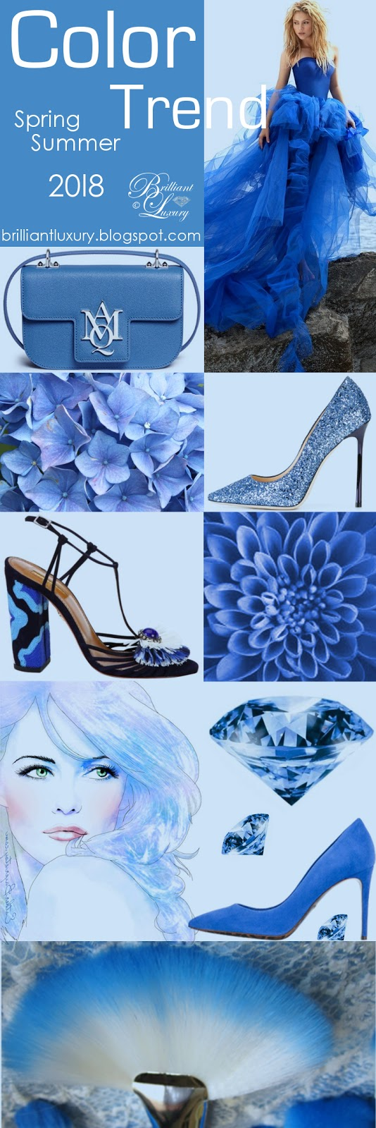 Brilliant Luxury ♦ Color Trend 2018 Festival ~ Azure Blue