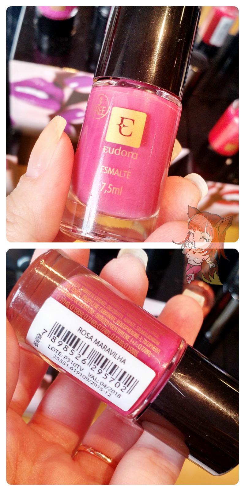 Lançamento Esmaltes Eudora :: Rosa Maravilha - Resenha