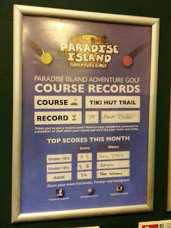 Course records at Paradise Island Adventure Golf in Manchester