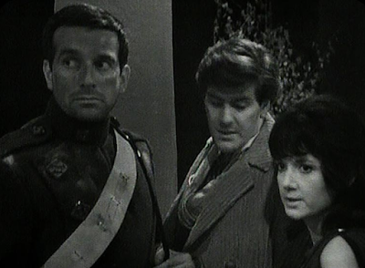 Katarina, Steven and Brett Vyon from Doctor Who: The Daleks' Master Plan