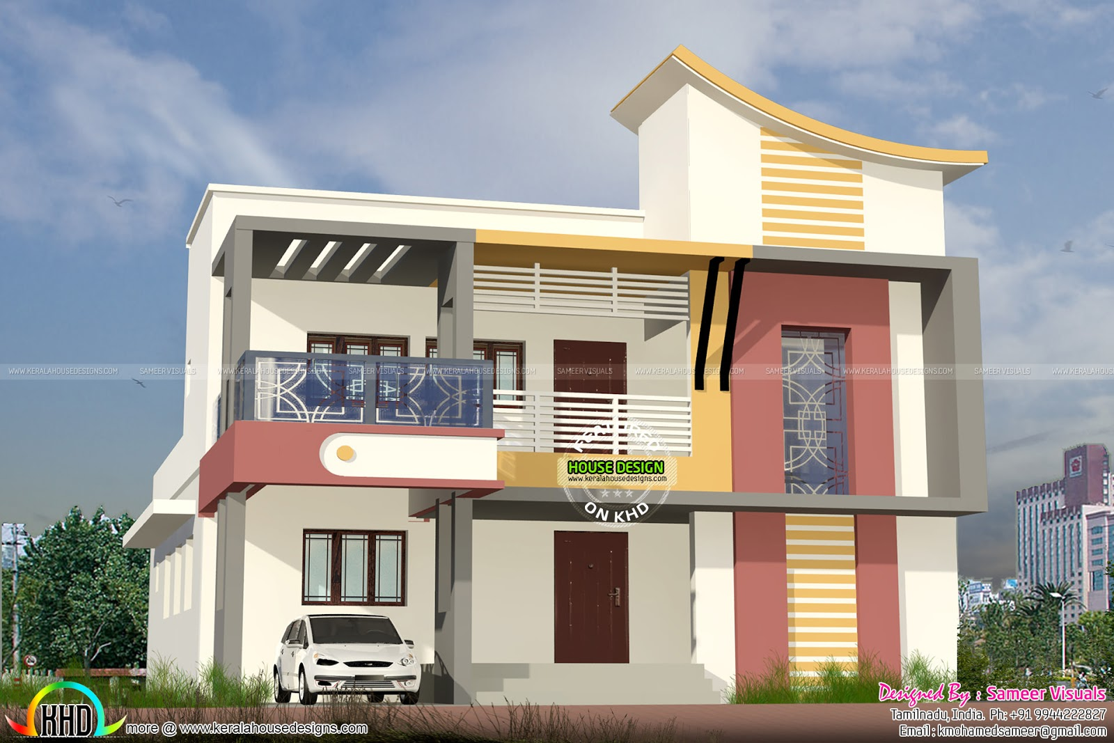 Tamilnadu model modern home kerala home design and floor for Tamilnadu house models