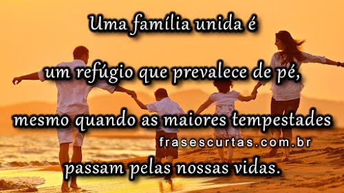 mensagens familia unida