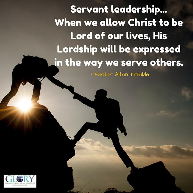 good leadership and the servant leader Thoughts on the servant leadership mindset  what it means to be a servant leader - duration: 3:55  why good leaders make you feel safe.