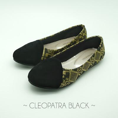 Sepatu Etnik - Cleopatra Black