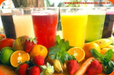 Sucos de Frutas - Opção para uma alimentação saudável