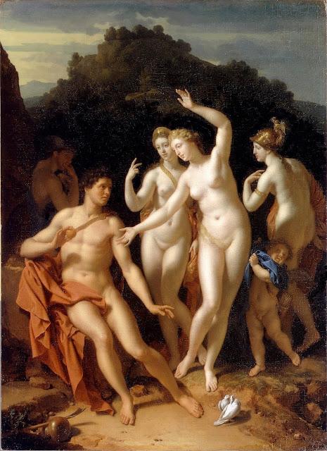 Adriaen Van Der Werff  - il giudizio di Paride - nudo pittorico