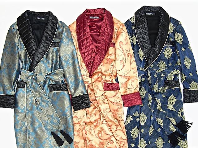 Men's paisley silk dressing gowns