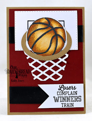 Our Daily Bread Designs Stamp/Die Duos: Basketball, Paper Collection: Old Glory, Custom Dies: Double Stitched Rectangles, Lattice Background, Double Stitched Ovals