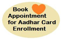 book appointment for new aadhar card enrollment