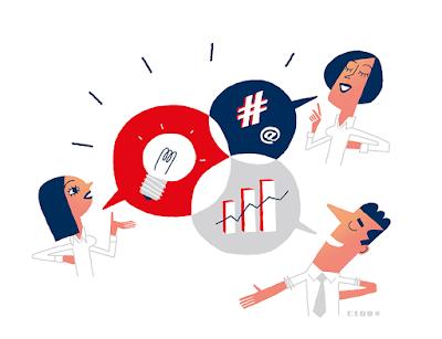 Clod illustration partage des compétences en entreprise