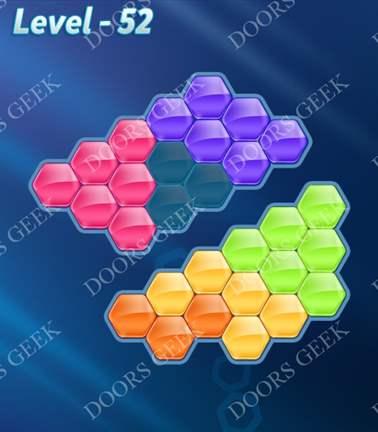 Block! Hexa Puzzle [Rainbow A] Level 52 Solution, Cheats, Walkthrough for android, iphone, ipad, ipod