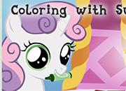 Coloring Sweetie Belle juego