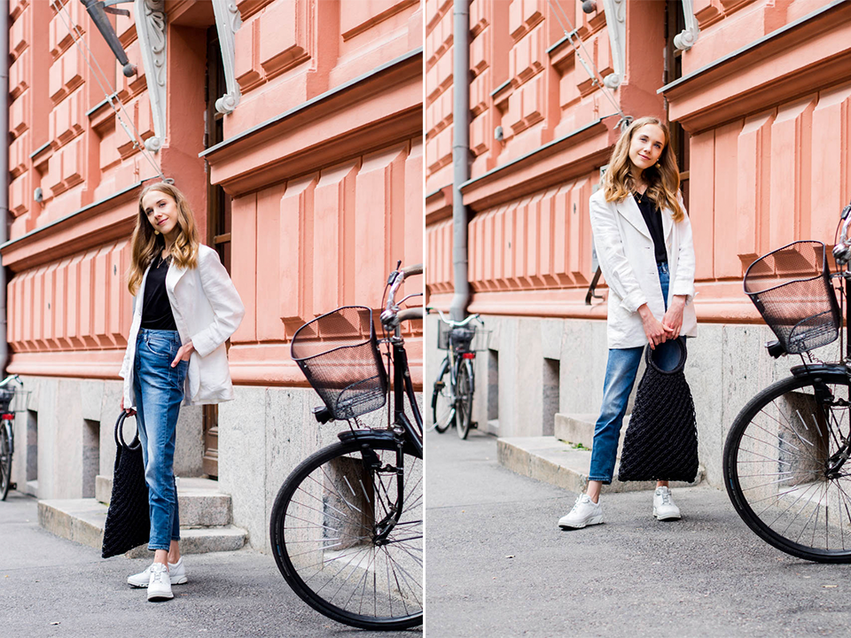 scandinavia-streetstyle-fashion-blogger-outfit-simple-chic-denim-blazer-chunky-sneakers