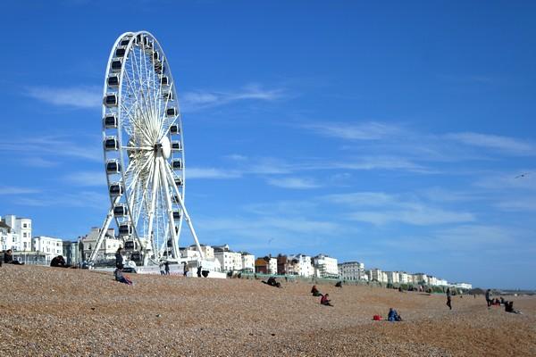 brighton wheel seafront grande roue plage beach front mer