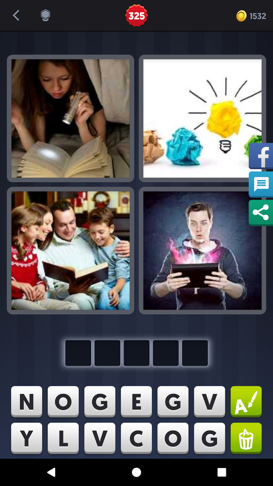 4 Pics 1 Word Answers Solutions Level 325 Novel