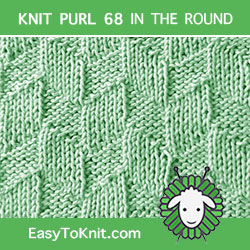 EasyToKnit - Parallelogram Knit Purl Pattern in the round