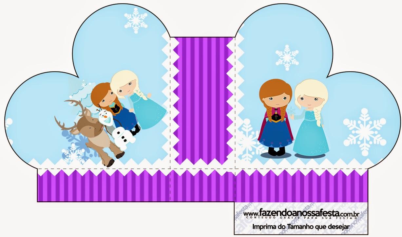 Caja abierta en forma de corazón de Frozen Niñas en Navidad.
