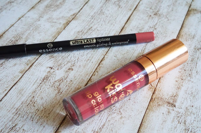 ultra last lipliner in 05 rosewood high water kiss glossy lip colour in 03 aquatic chic