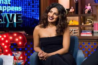 Priyanka Chopra In Black Watch What Happens Live Show (6)