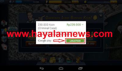 Cara gratis beli 230.000 koin criminal case dengan google play gift card