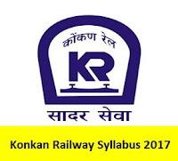 Konkan Railway Syllabus