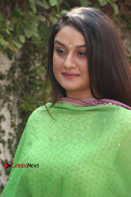 Actress Sonia Agarwal Stills in Green Anarkali Dress at Agalya Tamil Movie Launch  0001.jpg