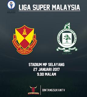 Selangor Vs Melaka 27 Januari 2017