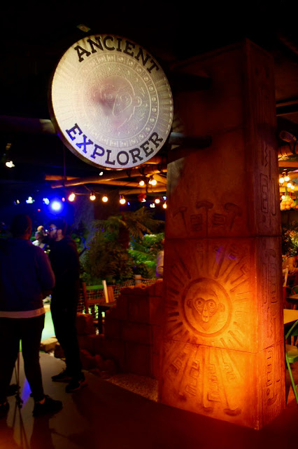 The entrance to the Ancient Explorer course at Treetop Adventure Golf